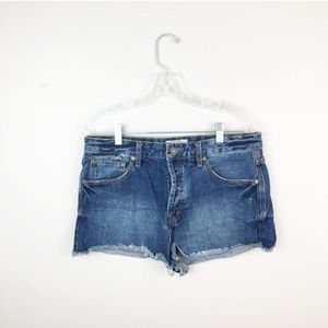 Free People denim shorts medium wash size 31